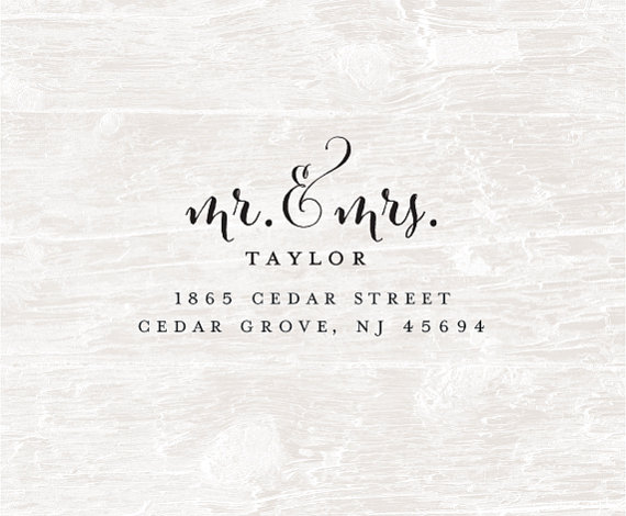 Mariage - Custom Address Stamp, Self Inking Rubber Stamp, Pre-Inked, Calligraphy Stamp, Personalized Rubber Stamp, Custom Rubber Stamp, Christmas card
