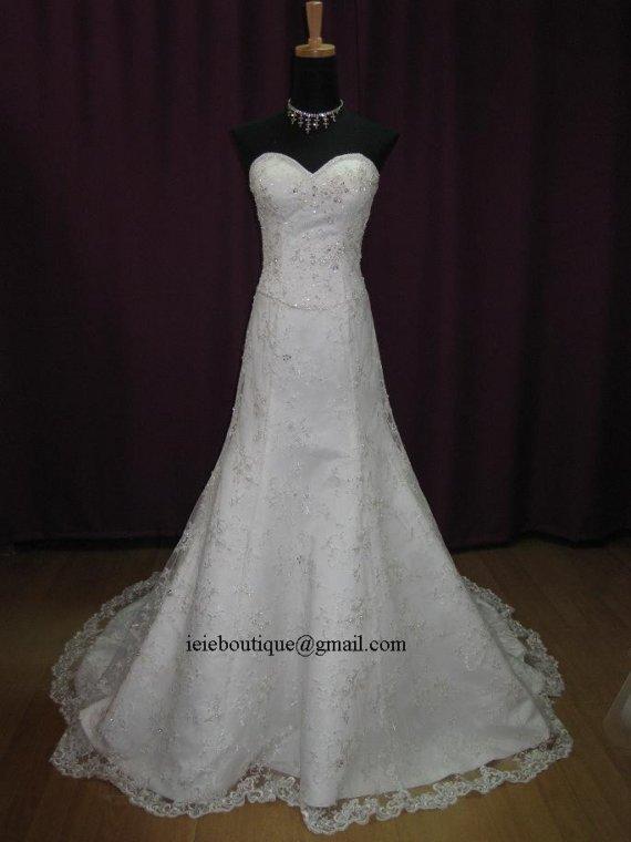 زفاف - Sweetheart Lace Overylay Wedding Dress with Exquisit Embellishments.