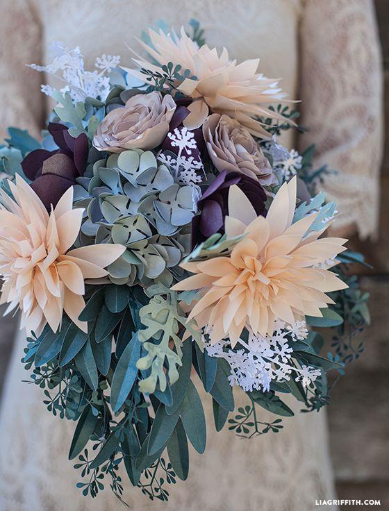 DIY - DIY Rustic Paper Bridal Bouquet #2327277 - Weddbook