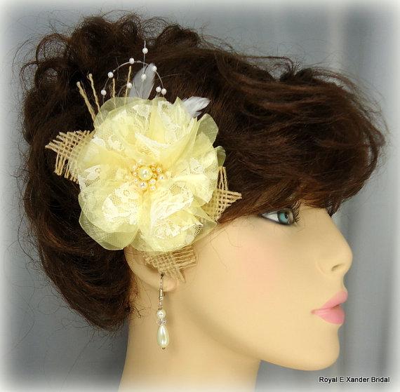 Mariage - Organza Lace Bridal Hair Fascinator