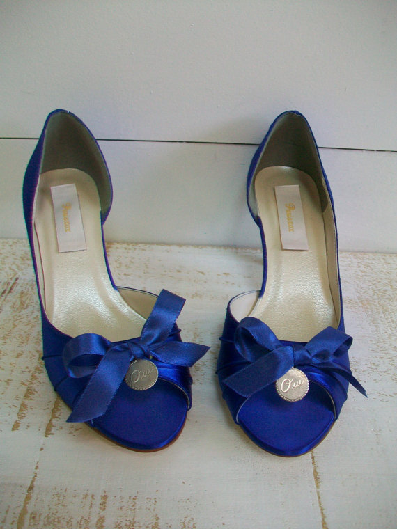 Wedding - Blue Wedding Shoes - Paris Wedding - Parisian Wedding - Oui Charm Wedding Shoes - Over 100 Colors - Choose Your Heel Height - Wide Sizes