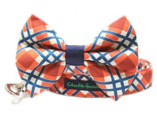 زفاف - Union Station Plaid Bow Tie for Dog Collar