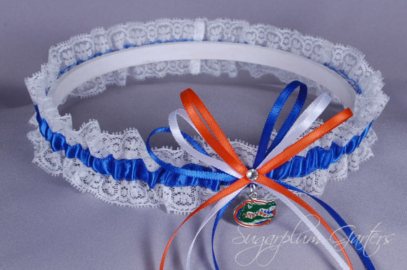 Mariage - University of Florida Gators Lace Wedding Garter