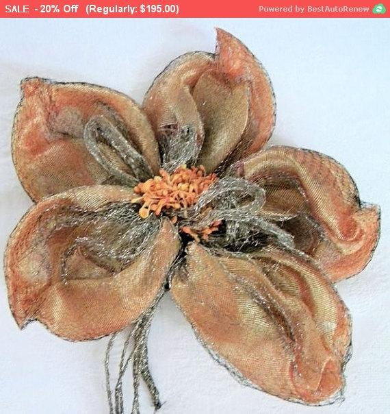 Mariage - Summer SALE - Gorgeous Antique Lame Applique Ribbon Work Edwardian Metallic Trim Bridal Lingerie