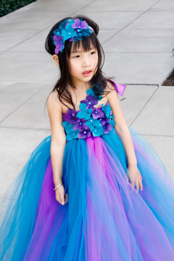 Flower Girl Dress. Purple And Teal TuTu Dress. Baby Tutu Dress ...