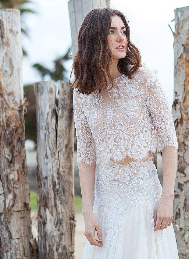 Свадьба - Chic & Daring Boho Wedding Dresses: Costarellos Bridal 2016!