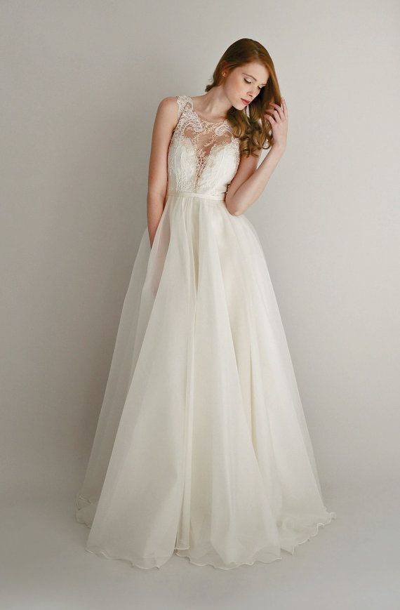 Wedding - Lace And Organza Gown - Danielle