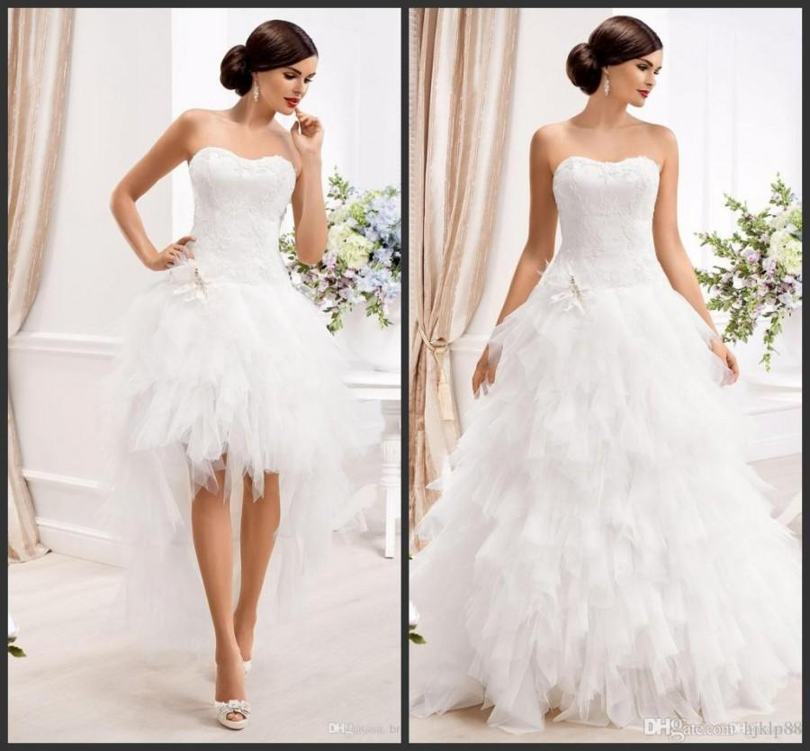 gown wedding dresses with detachable skirt 2 in 1 tulle wedding gowns