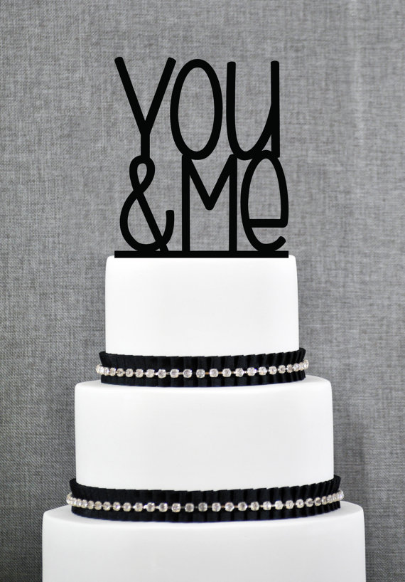 Mariage - Wedding Cake Topper - You & Me Cake Topper by Chicago Factory- (S072)
