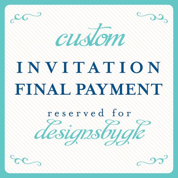 زفاف - invitation final payment reserved for: designsbygk