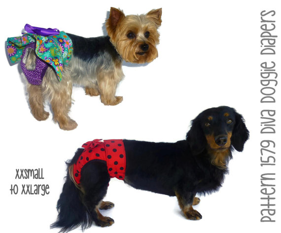 Diva Doggie Diaper Pattern * XXSmall To XXLarge * Dog Clothes Sewing ...
