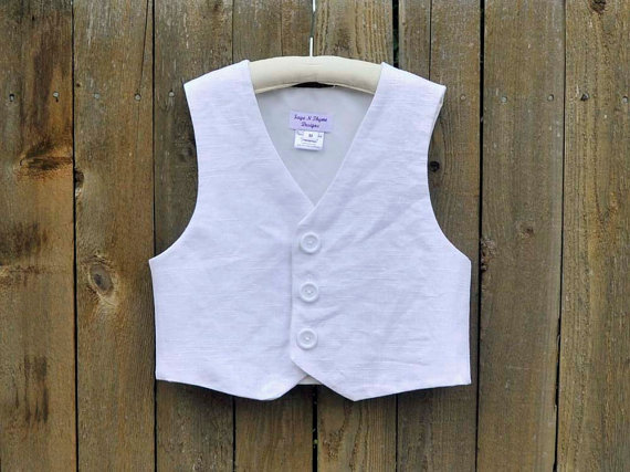 Свадьба - Boys linen Vest, Ringbearer suit, many colors, Beach Weddings, Photos, dedications...6m,12m,2t,3t,4t,5,6,7,8