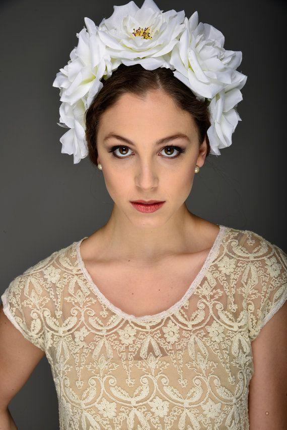 Свадьба - Flower Crown- Rose Headband- Flower Headband- US Made- Festival Wear- Bridal Party- Wedding Flower Wreath