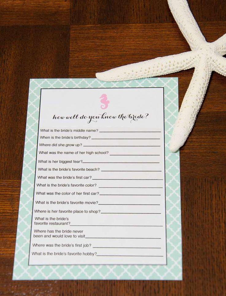 Beach Surf Bridal Wedding Shower Party Ideas 2328924 Weddbook
