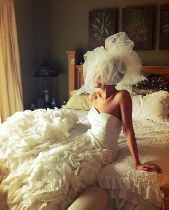 زفاف - Classy Wedding Veil -- Classy Bubble Veil Wedding Veil Ivory Veil White Veil Bridal Veil Tulle Veil