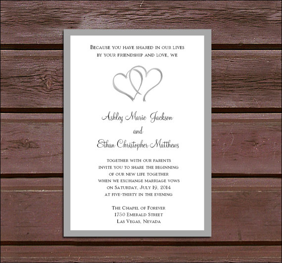 50 hearts wedding invitations rsvps reception invitations with free calendar stickers - Wedding Invitations With Rsvp