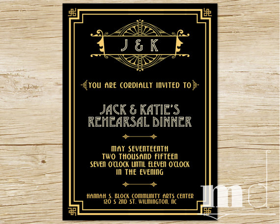 Great Gatsby Party Invitations gangcraftnet