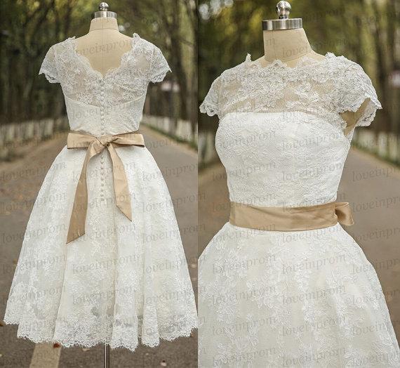 lace wedding dress mini