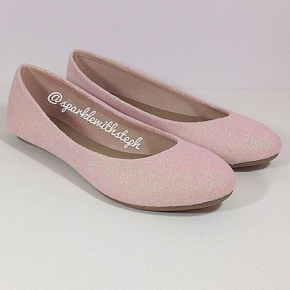 Wedding - Glitter Shoes- Glitter Ballet Flats- Wedding Flats- Sparkle Flats