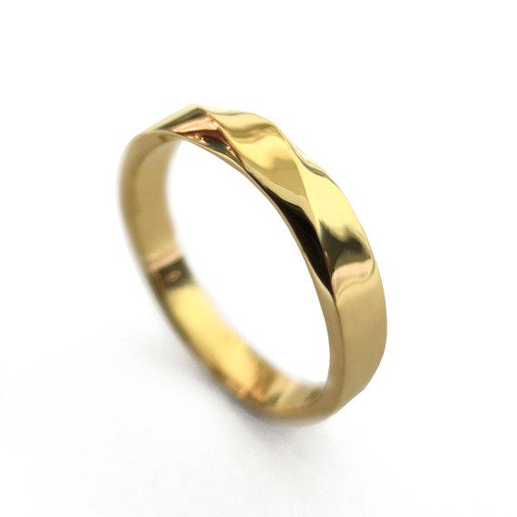 Wedding - Mobius Ring - 18k Gold Ring , Wedding Ring , Gold Wedding Ring , Wedding Band, Twisted wedding band