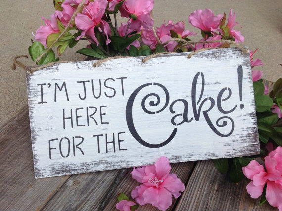 زفاف - Ring bearer sign, I'm just here for the cake