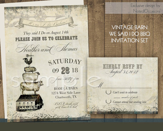 Einladung I Do Bbq Wedding Invitations Set 2329123 Weddbook