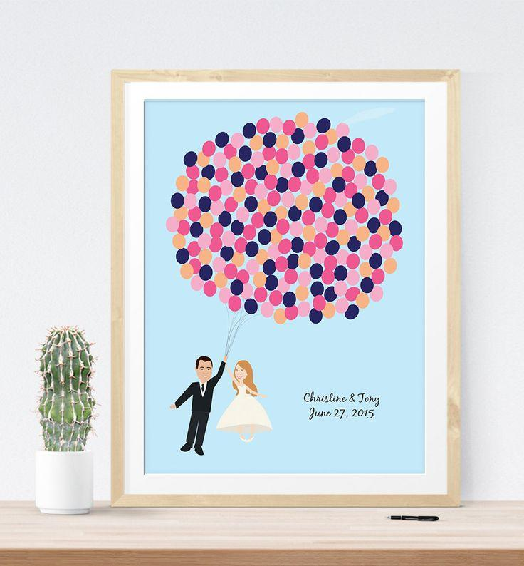Wedding Sign Guest Book Alternative Print With Portrait Fun Modern