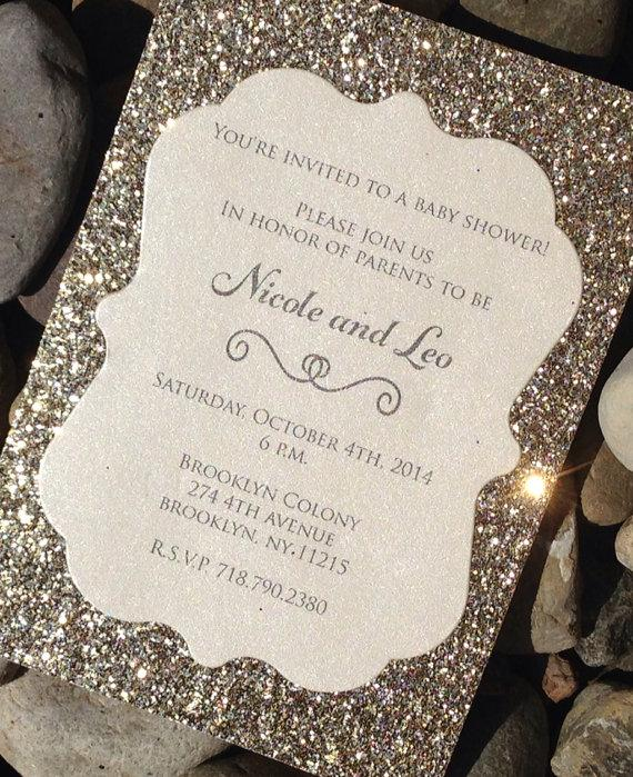 Baby Shower Invitation 25 Glitter Baby Shower Invitations Baby