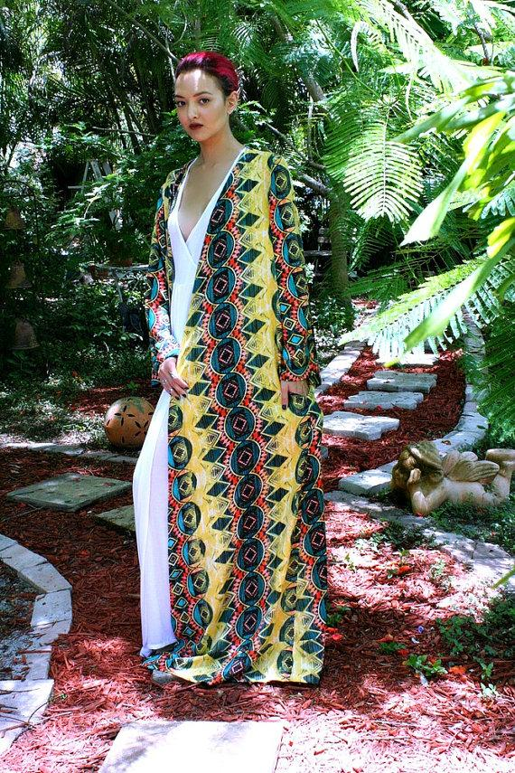 Mariage - Limited Edition Bohemian Robe Indian Summer Lingerie Sleepwear Loungewear Honeymoon Vibe Wear Beach Wedding Bridal Robe