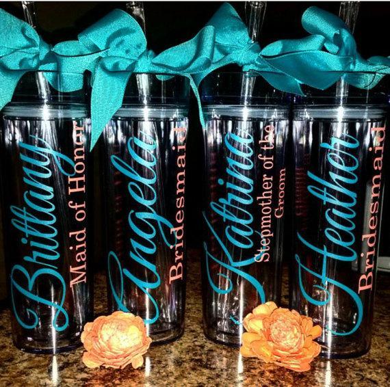 Mariage - Personalized Tumbler, Bridesmaid Gift, Gift,Bride Gift, Monogram Tumbler, Personalized Tumbler, Personalized Cup, personalized water bottle
