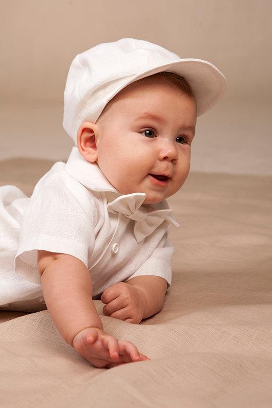 Newsboy Ring Bearer Hat Baby Linen Newsie Boy First Birthday Baptism Cap Kids Accessories Rustic Wedding Royal Blue White