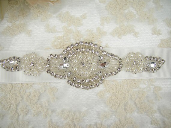 Mariage - Rhinestones Pearl Wedding Belt, Wedding Sash, Bridal Sash, Jeweled  Wedding Sash, Crystal Rhinestone Belt, Bridal Sash Belt,