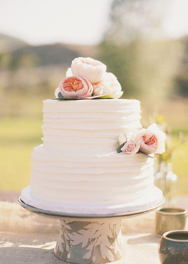 Wedding - Pink-flower-wedding-cake - Once Wed