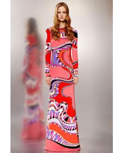 Emilio Pucci Red Multicolor Print Long Sleeve Dress  2329819 - Weddbook 186293ef4