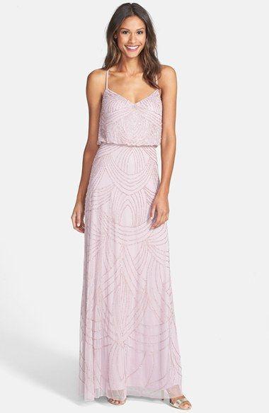Mariage - Women's Adrianna Papell Beaded Chiffon Blouson Dress