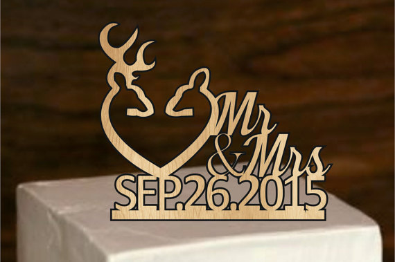 Rustic Cake Topper, Deer Wedding Cake Topper, Country Wedding Cake ...
