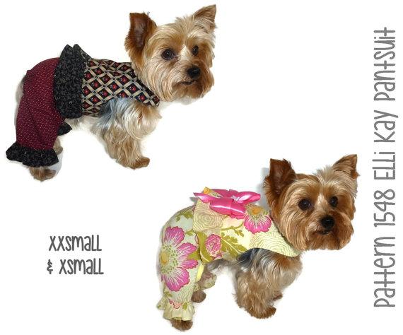 Elli Kay Dog Suit Pattern 1548 * XXSmall & XSmall * Dog Clothes ...