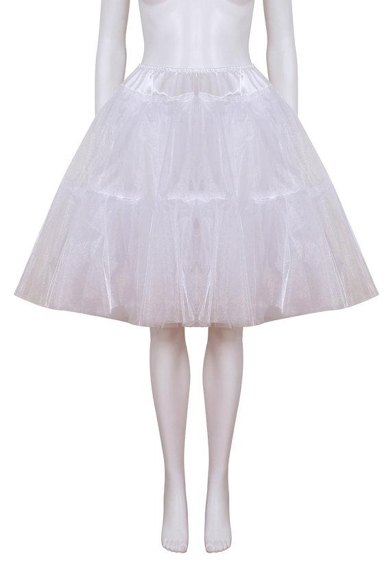 Свадьба - Petticoat - Luxury White coloured 24 inch 2 tier 2 layer Satin & Organza petticoat. Bridal Retro Vintage Rockabilly 50's style