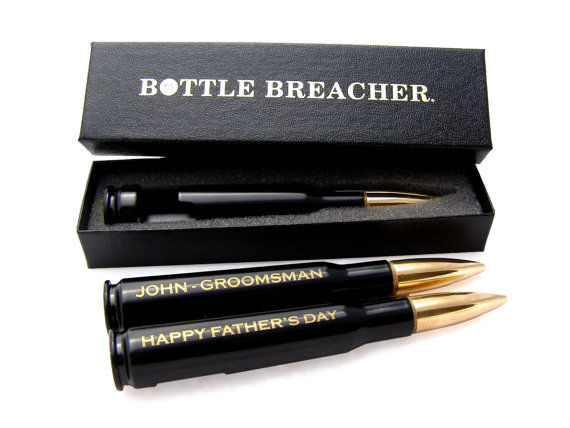Groomsmen Gift Engraved 50 Caliber Bottle Opener WITH Box Best Man Usher Father Of The Bride Groom