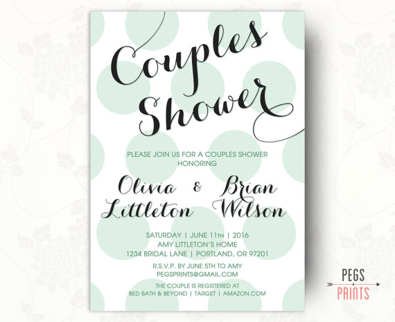Printable Couples Shower Invitation Couples Wedding Shower