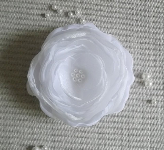 Ice white fabric flower in handmade bridal hair dress shoes ice white fabric flower in handmade bridal hair dress shoes accessory hair shoe clip brooch white winter weddings dress sash accessory mightylinksfo