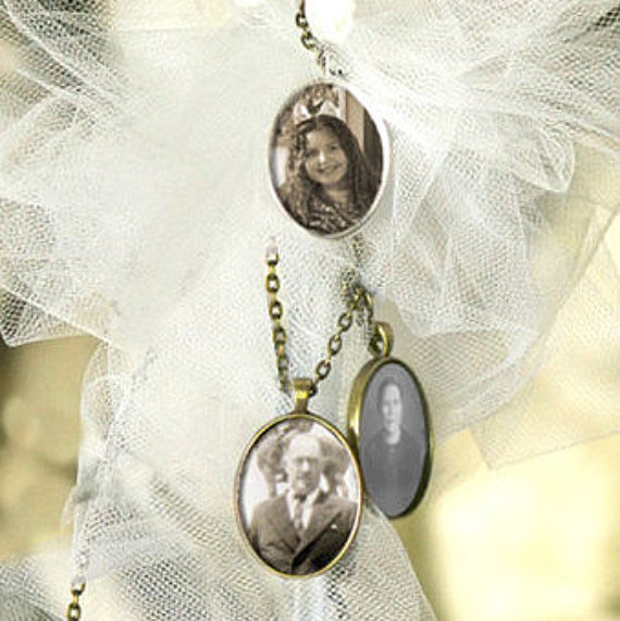 Mariage - 4 Wedding Bouquet charm kit -Photo Pendants charms for family photo (includes everything you need including instructions)