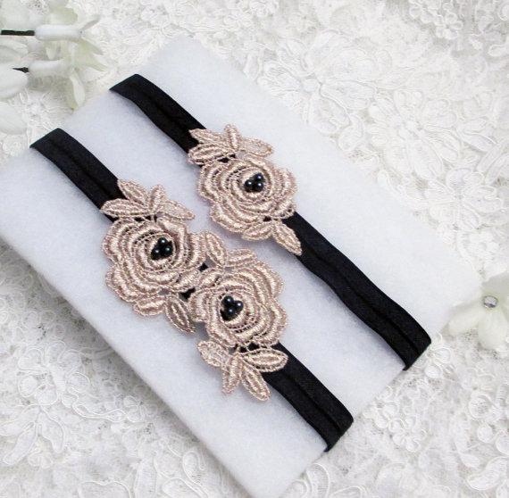 Garter Bridal Black Belt Set Lace Wedding Camo