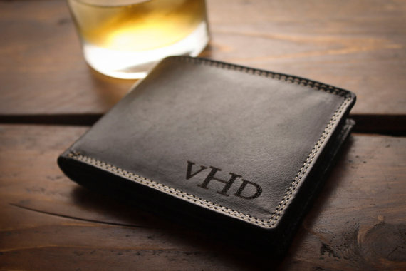 Personalized Mens Wallet For Men Fathers Gift Dad Birthday Graduation Anniversary Christmas Ideas Groomsmen