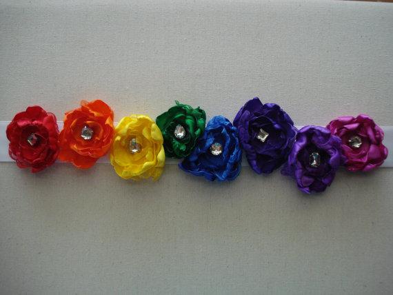 Wedding - Wedding Sash, Bridal Sash, Maternity Sash, Baby Shower Sash, Dress Sash, Rainbow Sash