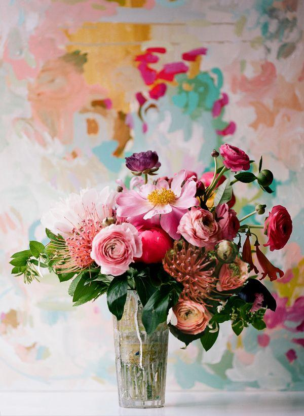 Wedding - Painterly Flower Arrangement - Once Wed