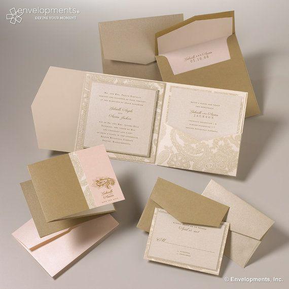 Elegant Blush And Gold Wedding Invitation Vintage Classic