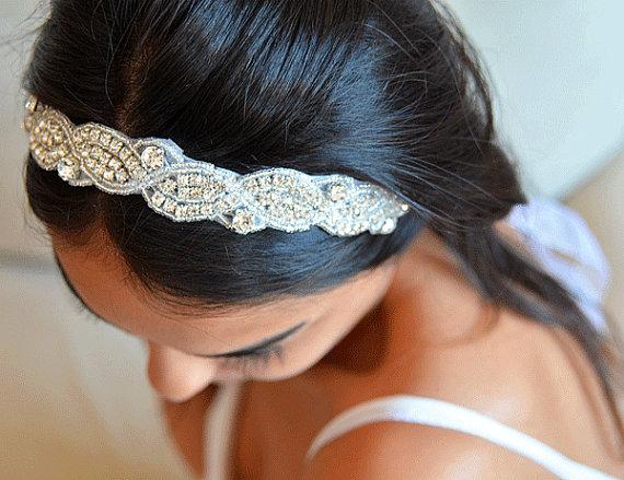 Wedding - Wedding Headband, Wedding Hair Accessories, Rhinestone Headband, Bridal Headpieces, Bridal Hair Accessories, Accessories, Rhinestone band