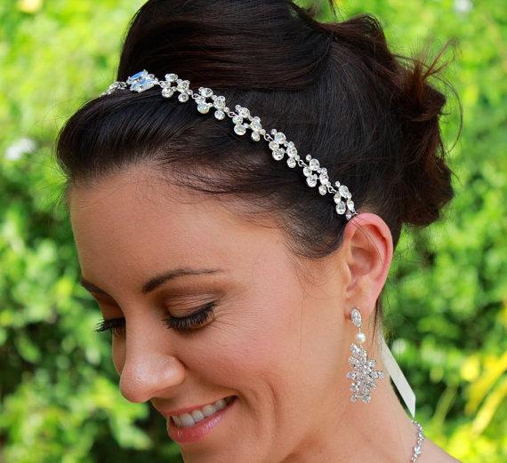 Wedding - Crystal Bridal Headband,  Crystal Wedding Headband, Crystal Hair Jewelry,  OLIVIA