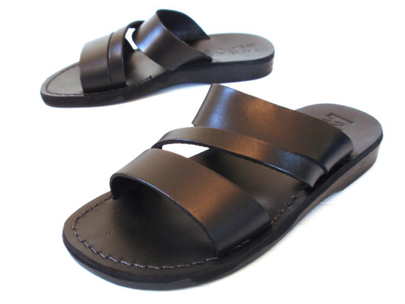 New Leather Sandals Greek Men S Shoes Flip Flops Flats Slides Slippers Biblical Bridal Wedding Colored Footwear Designer